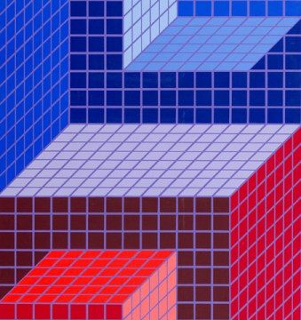 Victor Vasarely, Tsika, 1970-76 rok, źródło: materiały prasowe