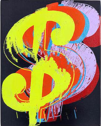 Andy Warhol, Dollar Sign, 1982, źródło: Bonhams.com