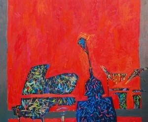 Wojtysek LMT - olej, płótno, 100 x 120 cm, 2014