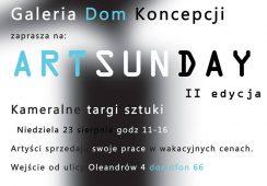 """""""Art Sunday"""", czyli kameralne targi sztuki w galerii Dom Koncepcji w Warszawie"""