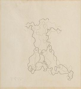 Władysław Strzemińsk, Rzeźba grecka III, Rysunek na Konkurs Olimpijski, 1948, źródło: DESA Unicum