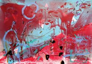 Marta Kubiak_Kosmiczny hultaj - transformacja 4_2011_sitodruk_70 x 100