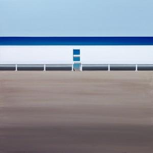 Tomasz Kołodziejczyk, Ławki, 2012, akryl na płótnie, 80x80cm, 3600 PLN