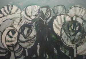 Weronika Raczynska SZARY, 2004, olej na tekturze, 70x100 cm, 6915 PLN