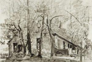 Leon Wyczółkowski, Dworek w Gościeradzu, 1934, źródło: DESA Unicum