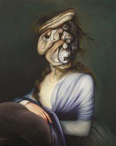Ewa Juszkiewicz, Portret damy, 2013, olej / płótno, 92×73 cm, courtesy E. Juszkiewicz