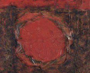 Alberto Burri, Rosso Plastica M1, źródło: Christie's