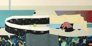 Julita Malinowska, Couple IV, 2015, olej na płótnie, 50x100cm, źródło: Galeria STALOWA