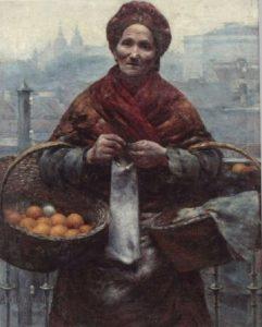 Aleksander Gierymski, Żydówka z pomarańczami, źródło: Muzeum Narodowe w Warszawie