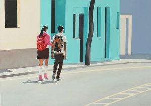 Julita Malinowska, Pierwsza Miłość I, rok: 2015, 70 x 100 cm, źródło: Galeria Stalowa