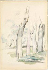 Paul Cézanne'a, Arbres au bord d'une route, 1884-1885