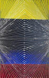 Janina Wierusz Kowalska, Napięcie (Tension), akryl na płótnie, 160 x 100 cm, 2011