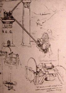 Leonardo da Vinci, projekt maszyn hydraulicznych