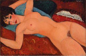 Amedeo Modigliani, Nu couché , 1917-18, źródło: Christie's