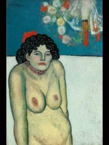 Pablo Picasso, La Gommeuse, 1901, źródło: Sotheby's