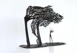 Lubomir Tomaszewski, Rzeźba Samotny Skrzypek, technika autorska metal, początek lat 90, źródło: materiały organizatora