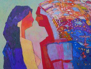8.Poegnanie-akrylptno100x130cm2014
