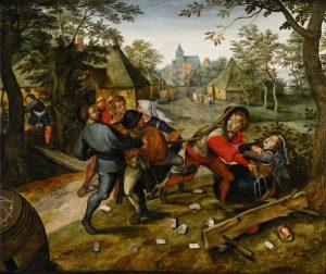 Pieter Brueghel Młodszy, The Peasants' Brawl, źródło: Sotheby's