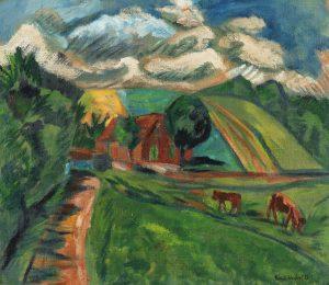 Erich Heckel, Hügellandschaft, 1913, źródło: Ketterer Kunst