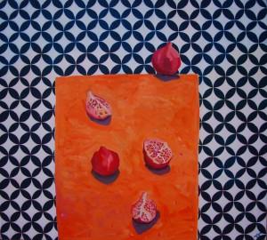 Sonia Wojtysek, Granaty - 90 x 100 cm, akryl na płótnie, 2015, źródło: Galeria NEXT