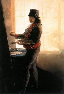 Francisco Goya, Autoportret w pracowni, 1790-95