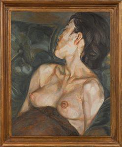 """Lucian Freud, """"Dziewczyna w ciąży"""", 1960-61, Dom Aukcyjny Sotheby's."""
