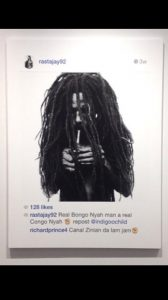 Richard Prince, Rastafarian Smoking a Joint, 2014, źrodło: Twitter