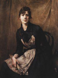 Anna Bilińska-Bohdanowiczowa, Autoportret, 1887