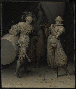 Pieter Bruegel starszy, Trzech Żołnierzy, źródło: materiały prasowe The Courtauld Institute