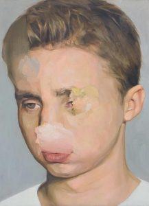 Cyryl Polaczek, Autoportret, olej na płótnie, źródło: materiały prasowe