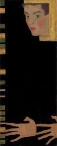 Egon Schiele, Self-portrait with Spread Fingers, 1090, źródło: Christie's