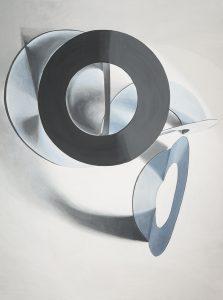 Janina Wierusz Kowalska, Formy koliste i cienie, akryl na płótnie, 206 x 145 cm, 2015 (Janina Wierusz-Kowalska)