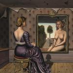 """Paul Delvaux, """"Le Mimroir"""", 1936. Źródło: Sotheby's"""