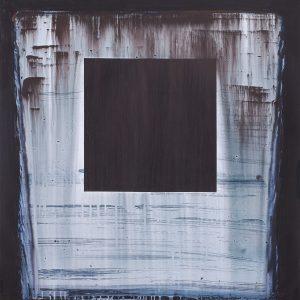 Miłosz Flis, MONOLIT, 2014,akryl na papierze, 120x107cm