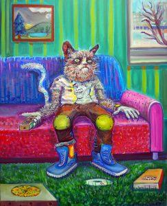 Piotr Saul, Grumphy Cat, 2016