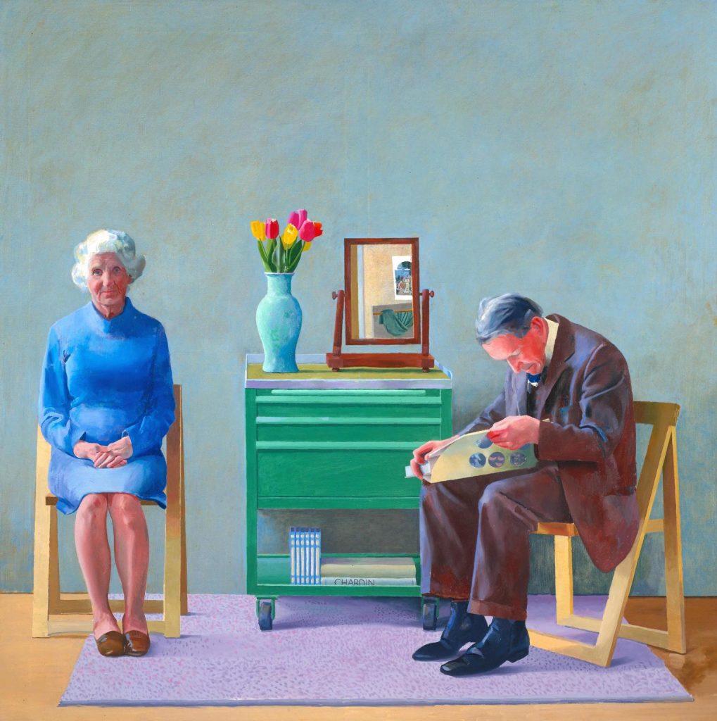 """David Hockney """"My Parents"""" 1977. Źródło: Tate Britain"""