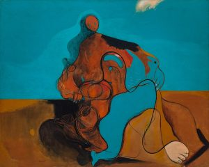 "Max Ernst, ""The Kiss (Le baiser)"" (1927). Źródło: The Solomon R. Guggenheim Museum"