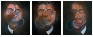Francis Bacon, Trzy studia do autoportretu, 1980, źródło: Sotheby's
