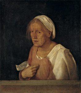 Giorgione, Staruszka, pocz. XVI w.
