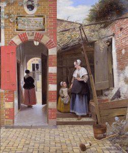 Pieter de Hooch, Podwórze, 1658