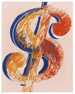 Andy Warhol, Dollar Sign, ok. 1980, źródło: Sotheby's