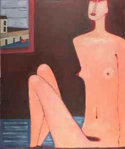 Jerzy Nowosielski, Akt, 1982 olej, płótno, 81 x 96 cm, źródło: Piękna Gallery