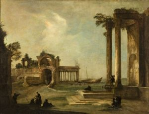 Canaletto, Pejzaż z ruinami, około 1722