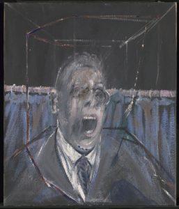 Francis Bacon, Study for a Portrait , 1952 , Oil paint and sand on canvas, Estate of Francis Bacon, źródło: materiały prasowe Tate Modern