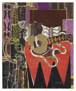 Georges Braque, Mandoline à la partition (Le Banjo), źródło: Christie's