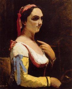 """Camille Corot, """"Italian Woman"""", 1870"""