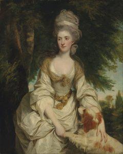 """Sir Joshua Reynolds, """"Portrait Lucy Long, Mrs George Hardinge"""", 1820, źródło: Christie's"""