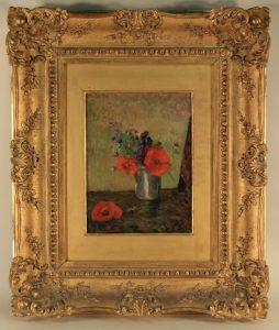 """Paul Gauguin, """"Fleurs D'Ete Dans Une Goblet"""",1885, źródło: Litchfield County Auctions"""