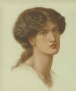 "Dante Gabriel Rossetti, ""Portrait Jane Morris"", 1870, źródło: Christie's"