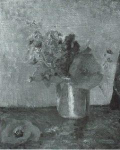 """Paul Gauguin, """"Fleurs D'Ete Dans Une Goblet"""", fotografia z 1940 roku, źródło: Wildenstein catalogue raissone"""